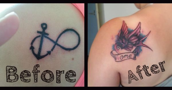 Cover up of an infinity gone wrong for Infinity sign tattoo cover up