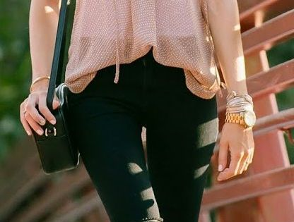 Teenage Fashion Blog: Classic top with ripped skinnies jeans | Summer st...