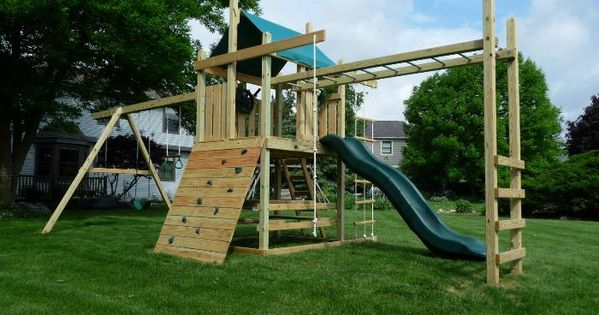 outdoor playsets with monkey bars plans   wooden swing ...