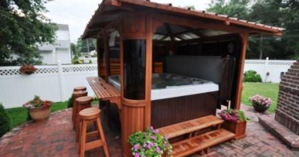 A Hot Tub Gazebo From Catalina Spas On Top Of A Beautiful