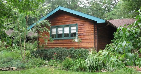 Log cabin restored with deck restoration plus seneca brown How to stain log cabin