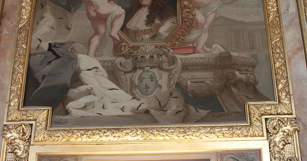 galerie d 39 apollon tapisserie des goblins repr sentant louis xiv le louvre paris. Black Bedroom Furniture Sets. Home Design Ideas