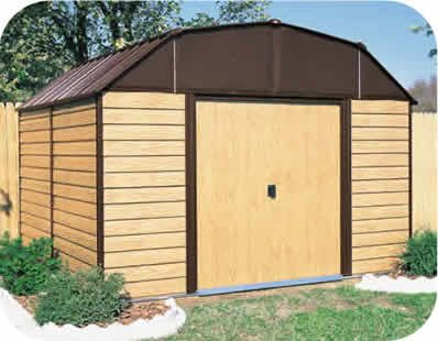 Woodhaven 10x14 Arrow Steel Storage Shed Kit Wh1014 Metal Storage Sheds Outdoor Storage Sheds Steel Storage Sheds