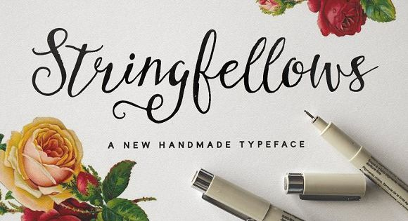 Stringfellows Typeface by Nicky Laatz – Every stroke is made with love and attention