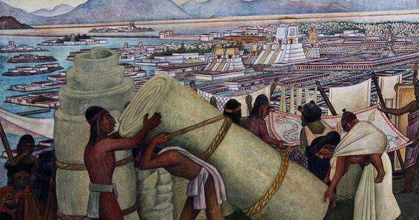 Diego rivera mural the grand tenochtitlan palacio for Diego rivera tenochtitlan mural