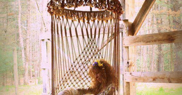 ❦ hanging chairs, beds, hammocks and lounges. Handmade OOAK Macrame Vintage Retro