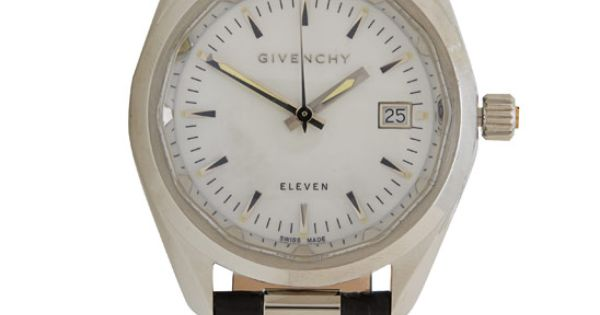 Givenchy Black Eleven 36 Mother of Pearl Watch