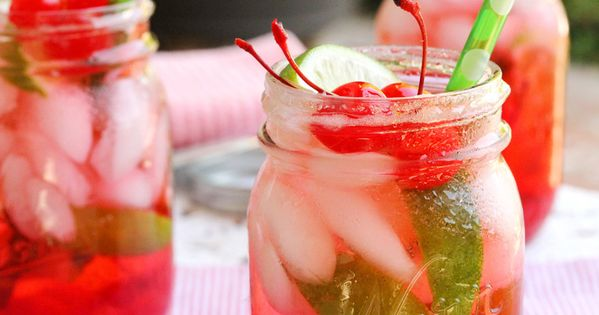 Very Cherry Shirley Temple with Lime @ Tasty Holiday Food Ideas