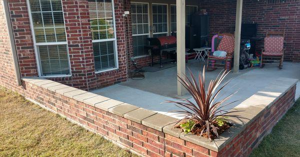 Install Custom Brick Seating Wall With Corner Planters Brick To