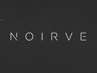 Noirve | Modern fonts, Simple logos and San diego