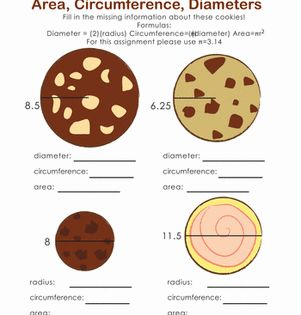 Area And Circumference Of A Circle Middle School Math Teacher