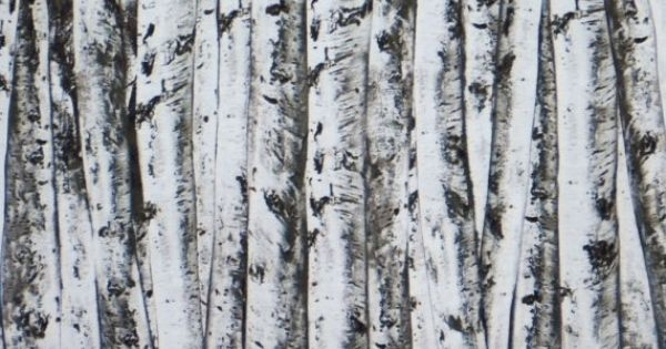 Black And Gray Birch Bark Print Pure Cotton Fabric One