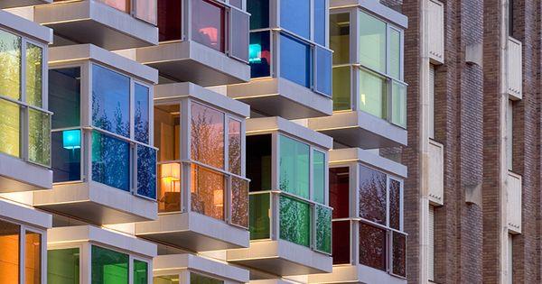 Hesperia Bilbao Hotel, Bizkaia, Spain, Color Blocking Architecture, Interior Design, Inspiration, Hotel