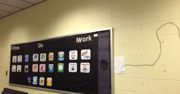 Ipod Ipad Bulletin Board Bulletin Boards Pinterest