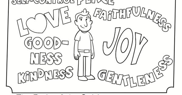 Fruits Spirit Coloring Pages: The Fruit Of The Spirit Coloring Page