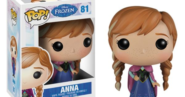 This Disney Frozen Anna Pop! collectible vinyl figure stylizes Anna in a