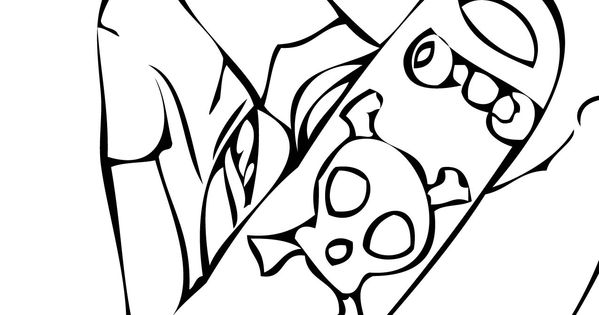 Coloring Pages to Print Skateboarding 2 coloring page