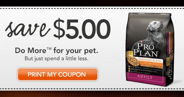 Purina Pro Plan Coupon Pro Plan Dog Food Purina Pro Plan Coupon Purina Pro Plan