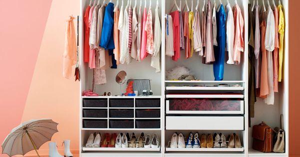 Armoire blanche avec paniers en feutre tag res chaussures tiroirs et sup - Ikea etageres et supports ...