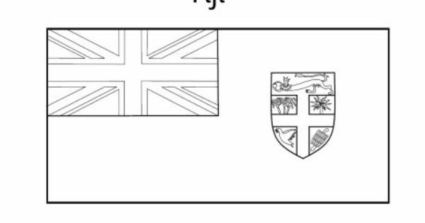 fiji flag coloring pages - photo#6