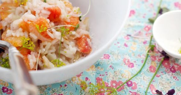 Roasted Fennel and Blood Orange Risotto - serve with salad ...