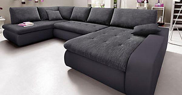 trendmanufaktur wohnlandschaft wahlweise xl oder xxl in luxus microfaser alcazar struktur im. Black Bedroom Furniture Sets. Home Design Ideas