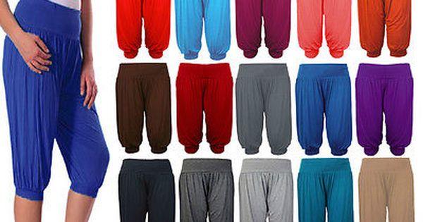 Ladies Womens Hareem 3//4 Trouser Ali Baba Baggy Legging Pants Harem Size 8-26
