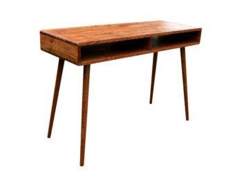 Mid Century Inspired Study Desk Mid Century Desk Modern Desk Writing Desk Modern
