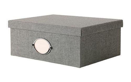 kvarnvik kasse med l g gr. Black Bedroom Furniture Sets. Home Design Ideas