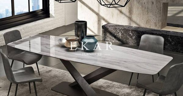 European Style Rectangle Marble Dining Table Ekar Furniture Dining Table Marble Marble Dining Oval Marble Dining Tables