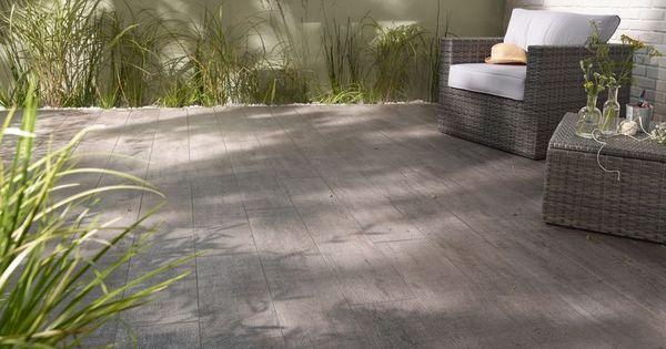 le carrelage terrasse anthracite bosko vous ravira son aspect bois vieilli et sa mati re gr s. Black Bedroom Furniture Sets. Home Design Ideas
