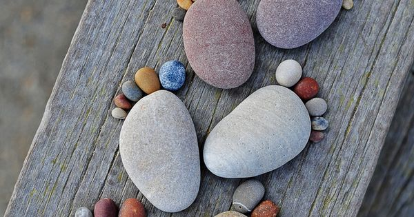 Pebble feet . Use the pebbles your little Ones collect and keep