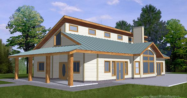 Contemporary House Plan Chp 26674 At
