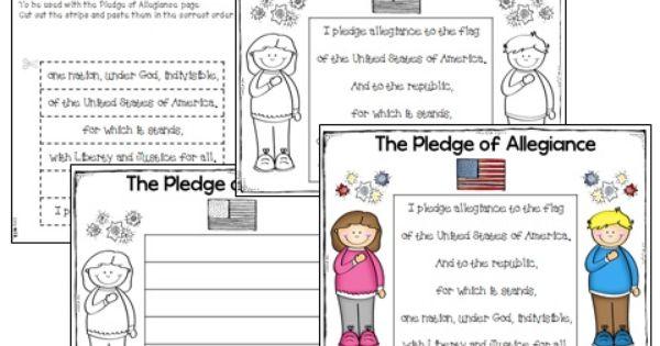 Free American Pledge Activity Plus A Sentence Scramble And