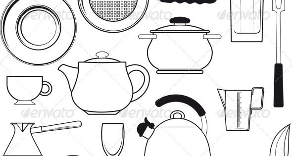 kitchen utensils templates