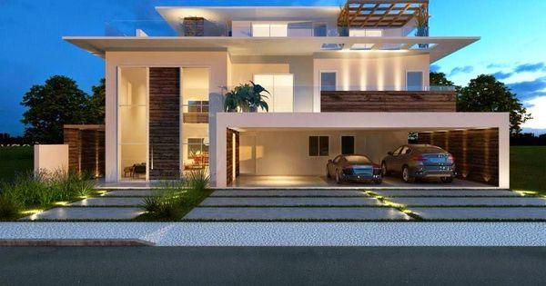 30 fachadas de casas modernas dos sonhos doce lar