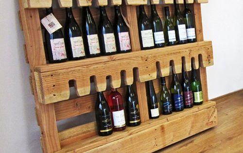 Ideas para reciclar pales como botellero bottle racks - Reciclaje de pales ...