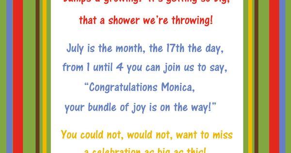 Dr. Seuss Baby Shower Menu | 5x7 Dr Seuss Baby Shower Invitation