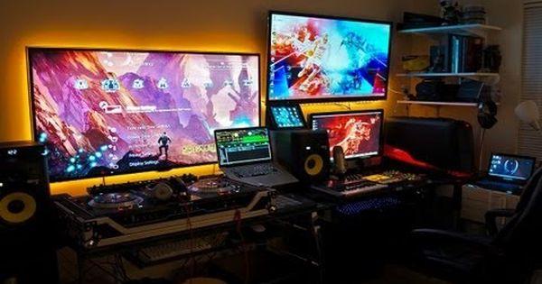ultimate best gaming setup geek setup room tour 2013 youtube