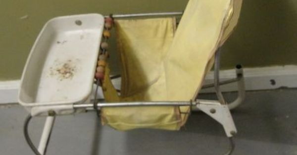 Vintage 1940 S Or 1950 S Yellow Metal Baby Bouncer High