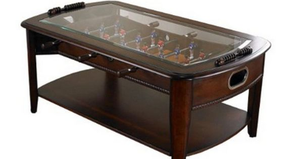 Foosball Coffee Table Game Arcade Toys Glass Wooden Soccer ...