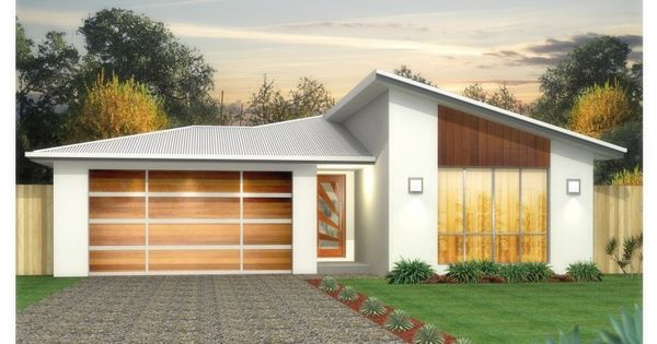 Hip garage roof with slope addition house facades for Building a detached garage on a slope