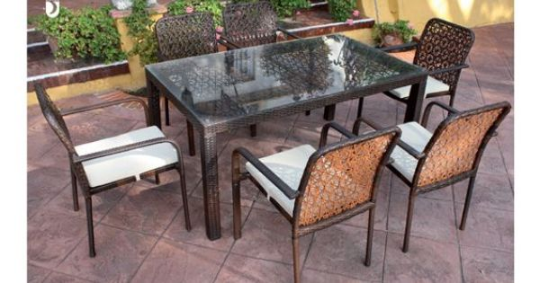 Elgante y sencillo comedor de terraza y jard n donde podra - Comedor de terraza ...