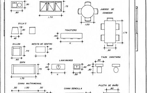 Medidas de muebles para planos arquitectonicos expresi n for Dibujos de muebles para planos arquitectonicos