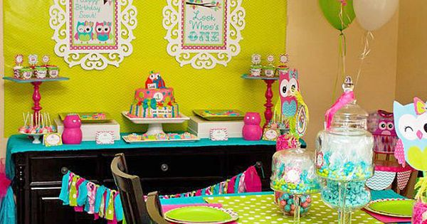 Cute 1st birthday color scheme!