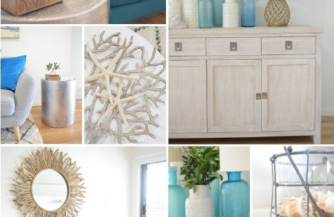 Beautiful beach house room reveal by A house full of sunshine for