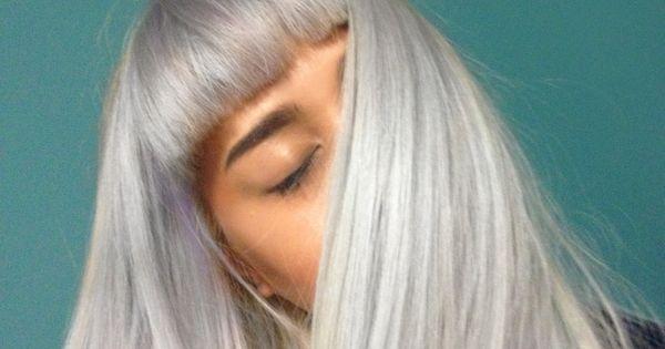 Blue grayish hair color