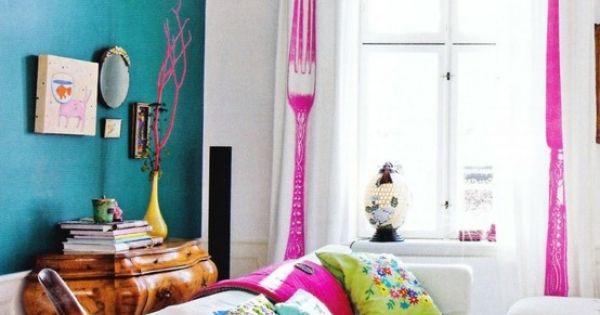 Bright living room living rooms pinterest dise os de for Cosas de casa deco
