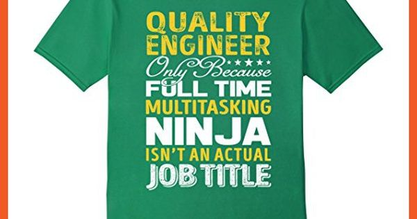 Mens Quality Engineer Is Not An Actual Job Title TShirt Large - quality engineer job description