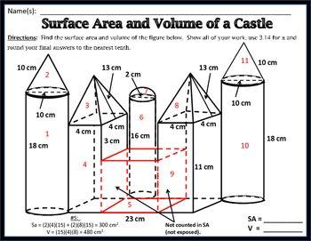 Volume Of Cylinders Cones And Spheres Worksheet Pre ...